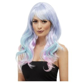 Fever/Smiffys Long Multi-Colored Pastel Wig