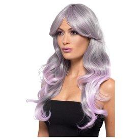 Fever/Smiffys Long Wavy Grey Ombre Wig
