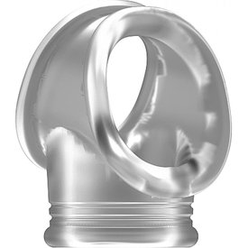 Shots Translucent Cock Ring With Ball Strap No. 48