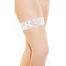 Coquette Leg Garter with Satin Bow Detail