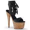 """Ankle Strap Platform with 7"""" Rose Gold Glitter Heel"""