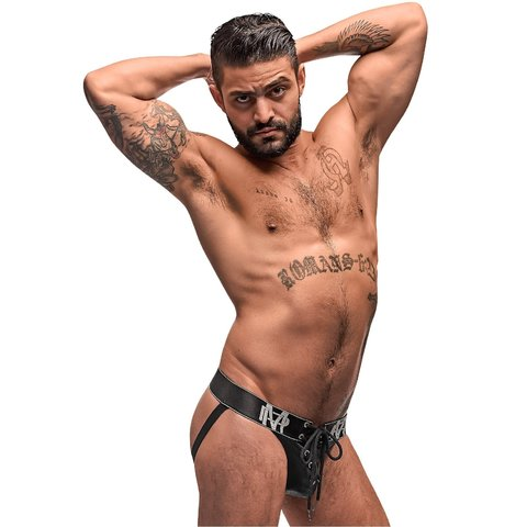 Black Ice Lace Up Jock