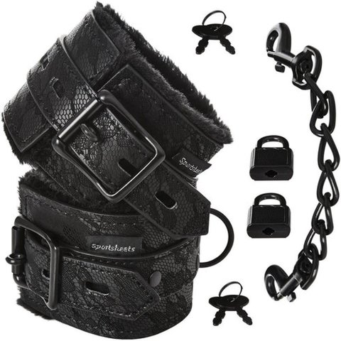 Lace Fur Lined Handcuffs