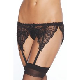 Coquette French Lace Garter Belt