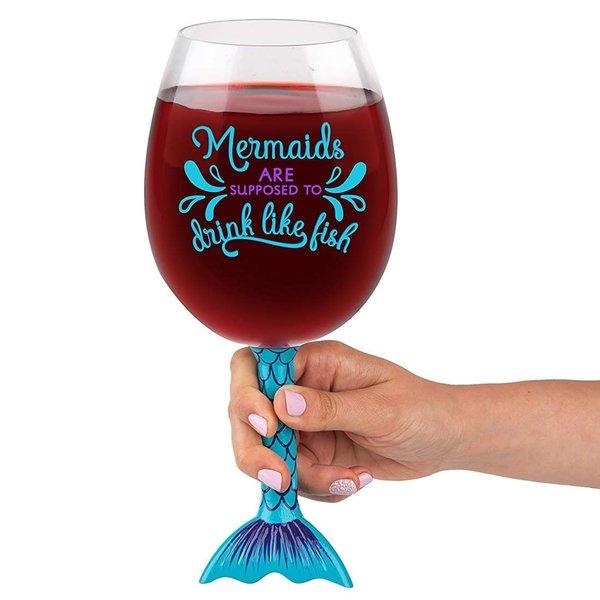 Big Mouth Mermaid Wine Glass