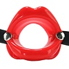 Silicone O-Ring Lips Gag - Red