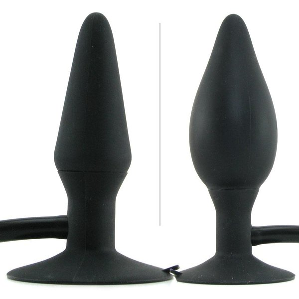 CalExotic Colt Medium Pumper Plug Silicone Inflatable Butt Plug Black