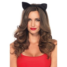 Leg Avenue Velvet Black Cat Ears