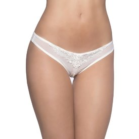 Oh La La Cheri Pearl Thong White - One Size Fits Most