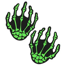 Pastease Zombie UV Reactive Boney Hands Pasties