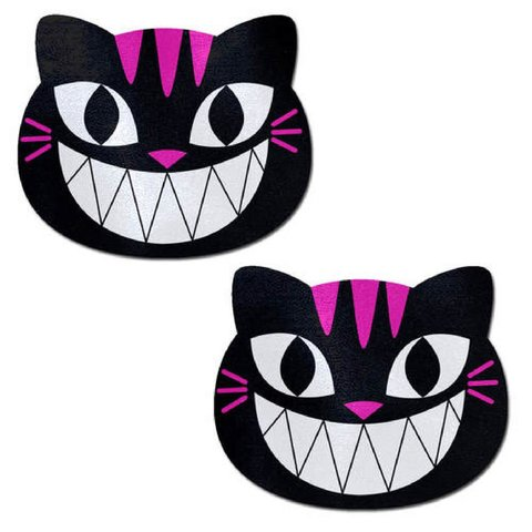 Black and Pink Chesire Cat Pasties