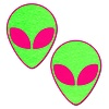 Neon Glowing Pink and Green Alien Pasties
