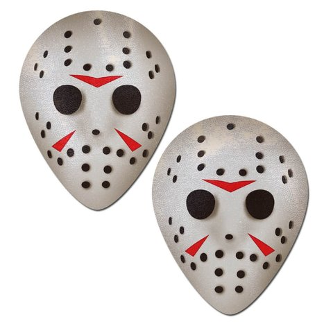Scary Halloween Hockey Mask Pasties