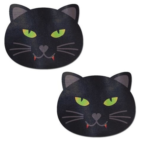 Black Halloween Vampire Cat Pasties