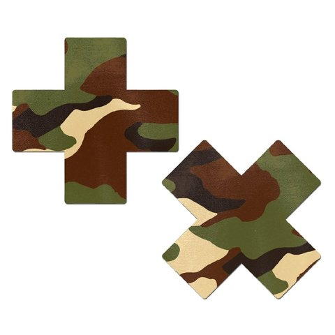 Green Camo Cross Pasties