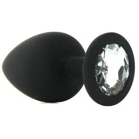 Shots Silicone Diamond Plug Black - Large