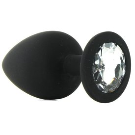 Shots Silicone Diamond Plug Black - Large