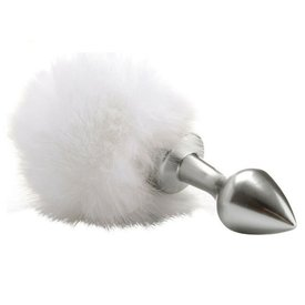 Shots Bunny Tail Plug - Silver