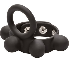 CalExotic Weighted Silicone Cock Ring and Ball Stretcher Medium