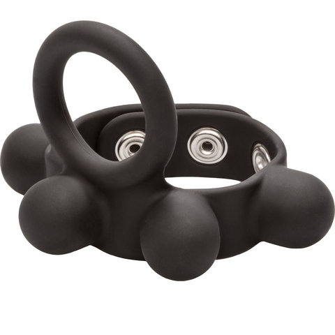 Weighted Silicone Cock Ring and Ball Stretcher Medium