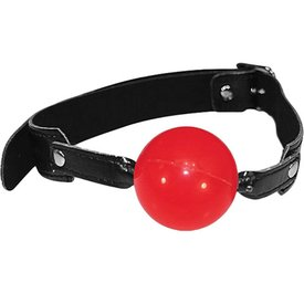 Sportsheets Sex And Mischief Solid Red Ball Gag 2 Inch