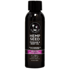 Earthly Body Skinny Dip Hemp Seed Massage Oil - 2 Oz.