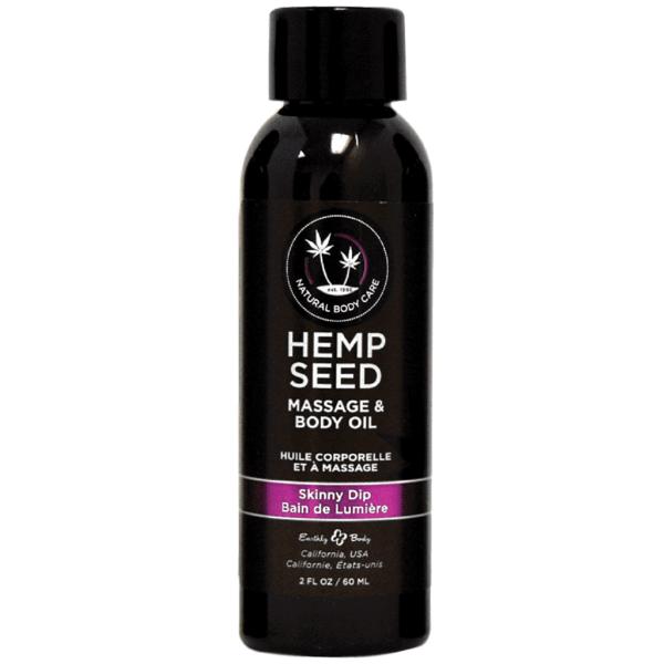Earthly Body Skinny Dip Hemp Seed Massage Oil - 2 Oz.