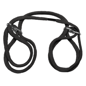 Doc Johnson Rope Bondage Cuffs - Black