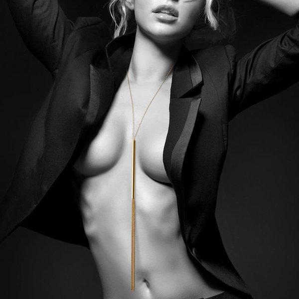 Bijoux Indiscrets Magnifique Chain Whip Necklace - Gold