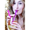 Dicky Sipping Straws Pink and Purple - 10 Pack