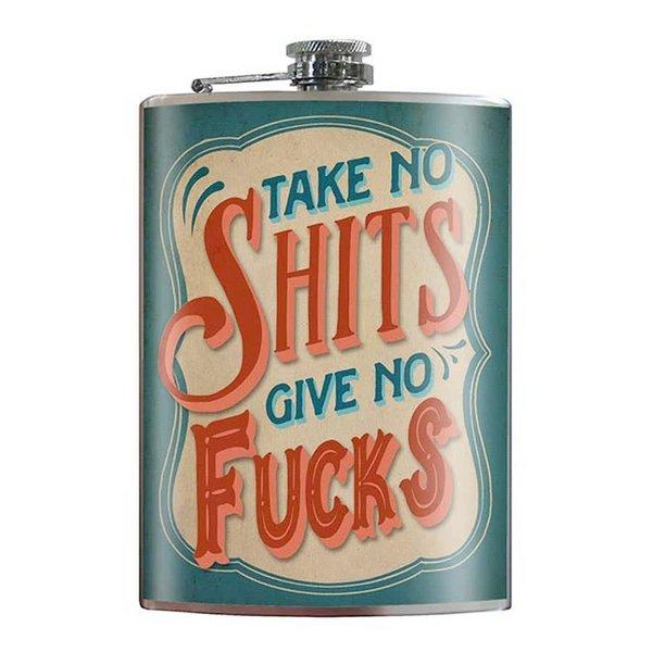 Trixie & Milo Take No Shits Flask