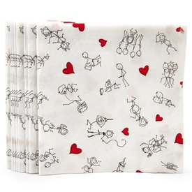 Candyprints Stick Figure Sex Napkins 8-pack