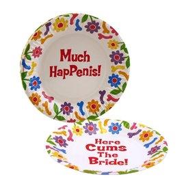 Candyprints Bachelorette Floral Plates 8 Pack
