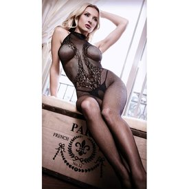 Fantasy Lingerie Back To Black Lace Bodystocking