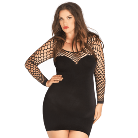 Leg Avenue Seamless Opaque Mini Dress - Curvy