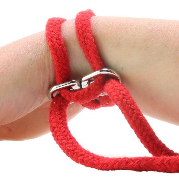 Doc Johnson Rope Bondage Cuffs - Red