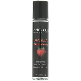 Wicked Sensual Care Aqua Waterbased Lubricant - 1 oz Strawberry