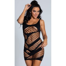 Beverly Hills Naughty Girl Eye Candy Swirling Fishnet Dress