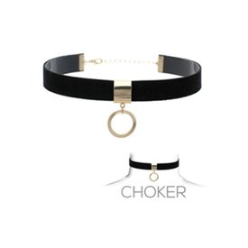 Groove Black Suede Choker with Ring