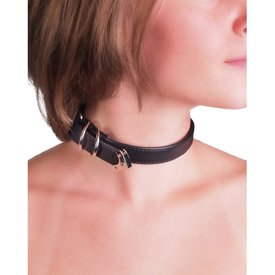 Groove Simple Choker With Buckle