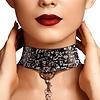 Printed Collar with Leash - Love Street Art - Black