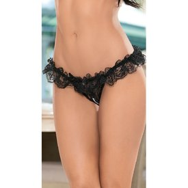 Escante Ruffled Pearl Thong