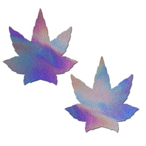 Lavender Holographic Weed Pasties
