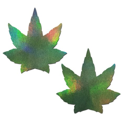 Green Holographic Weed Pasties