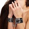 Printed Hand Cuffs - Love Street Art Fashion - Black