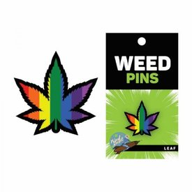 Wood Rocket LLC Marijuana Rainbow Pin