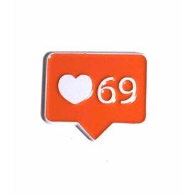 Geeky & Kinky Heart 69 Pin