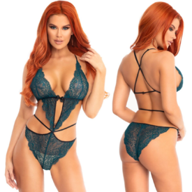 Leg Avenue Scalloped Lace Wrap Around Teddy