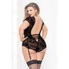 Simply Gorgeous Mesh and Lace Teddy Set - Curvy