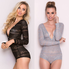 Seven 'til Midnight Cozy Long Sleeve Romper